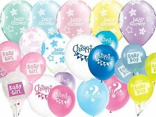 Baby Shower Christening Party Latex Balloons Girls Boys Pink Blue Decorations
