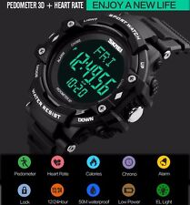 Fashion 3D Pedometer Heart Rate Monitor Calories Counter Pulse Digital Watch M32