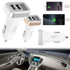 3.1A Universal Car Fast Charging Dual USB Charger LED Adapter For iPhone Samsung