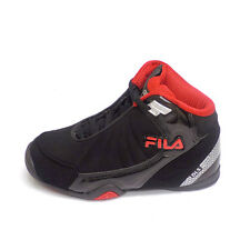 Fila DLS SLAM Kids Black Red High Top Athletic Basketball Sneakers Shoes