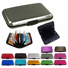 Slim Business ID Credit Card Wallet Holder Aluminum Metal Pocket Case Box PurO9