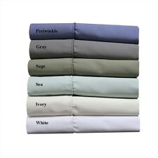 Cotton Blend King-Size Sheets, 1000 TC Wrinkle-Free Solid Deep Pocket Sheet Set