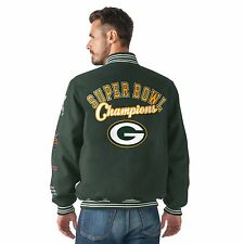 Green Bay Packers Varsity 4-Time Super Bowl Champions Wool Dynasty Jacket
