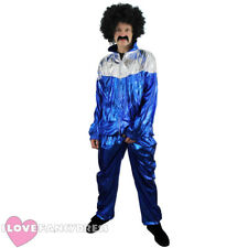 1980'S SHELL SUIT COSTUME CHAV FANCY DRESS ADULT SHINY TRACKSUIT MEN'S WOMEN'S
