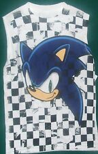 Sonic The Hedgehog No Sleeve t-shirt 6 7 14 16 L 18 XXL New w Tags Childs