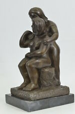 Bronze Sculpture Signed Botero Two Nude Couple Abstract Statue Figurine Figure