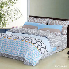 Dots Quilt Duvet Doona Cover Set Single Queen King Size Fitted Sheets Cicles New