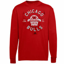 Chicago Bulls adidas Youth Classic Basket Long Sleeve T-Shirt - Red - NBA