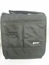 Unisex Hi-Tec Black Messenger Bag Multiple Compartments Ideal for School