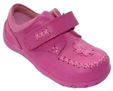 Girls Clarks First Shoes Hot Pink Leather Riptape Strap Casual shoes ITSY LOVE