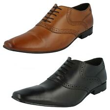 Mens Base London Waxy Leather Lace Up Brogue Shoes Style HARRY