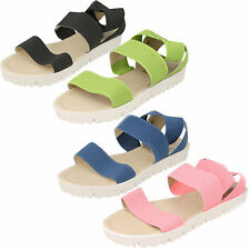 Ladies Down To Earth Slip On Elasticated Casual Sandals Style F10406