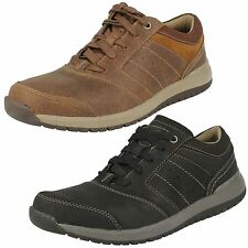 Mens Clarks Leather Lace Up Casual Shoes G Fitting Style RYLEY STREET