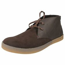 Mens Update Brown Lace Up Desert Ankle Boots Style 62833