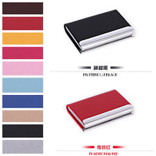 Stainless steel Leather Business Credit ID Card Holder Case Wallet Gift fashion
