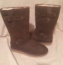 UGG Australia Sutter Leather Waterproof Boot Toast Brown Women Size 6 or 7