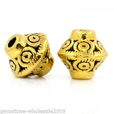 """Wholesale W09 Spacer Beads Bicone Gold Tone 7mmx6mm(2/8""""x2/8"""")"""