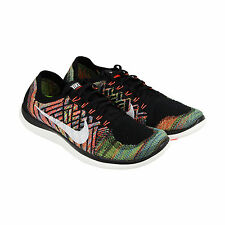 Nike Free 4.0 Flyknit Mens Black Mesh Athletic Lace Up Running Shoes