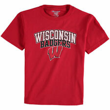 Wisconsin Badgers Champion Youth Jersey T-Shirt - Red - NCAA
