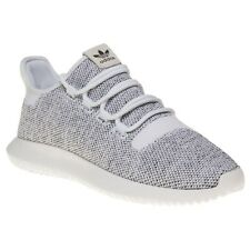 New Mens adidas Grey Tubular Shadow Knit Textile Trainers Running Style Lace Up