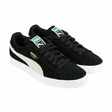 Puma Suede Classic Wns Womens Black Suede Lace Up Sneakers Shoes