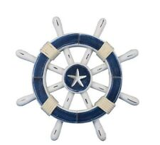 Handcrafted Nautical Decor Rustic Ship Wheel Wall Décor