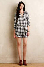 ANTHROPOLOGIE Cloth & Stone Plaid Flannel Romper NwT S M L