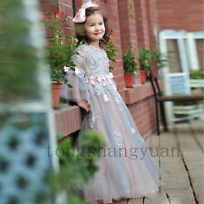 Multi-Color Handmade Flower Girl Dresses Princess Birthday Formal Gowns Pageant