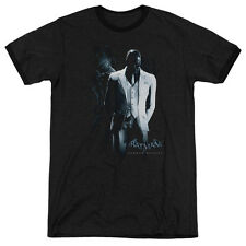 Batman Arkham Origins Black Mask Mens Adult Heather Ringer Shirt Black