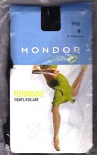 Mondor Dance Performance Tights Style 310 Black Nylon Lycra 2 Sizes Small, Med