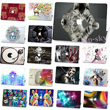 """Hard Rubberized Mac Skin Painting Case for Macbook 13"""" 15"""" Laptop Free KB Cover"""