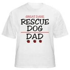 Great Dane Rescue Dad Dog Lover T-Shirt - Sizes Small through 5XL