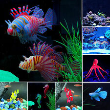 Aquarium Ornament Artificial Jellyfish Lionfish Seahorse Tank Fish Water Plants