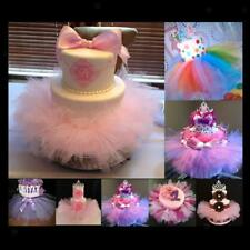 Tulle Tutu Cake Skirt Wedding Baby Shower Chair Party Birthday Decoration Prop