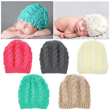 Cute Toddler Baby Kid Boys Girls Winter Warm Knit Beanie Hat Knitted Crochet Cap
