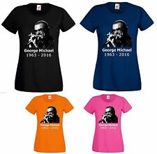 George Michael TShirt Wham Choose Life Music Legend RIP Tribute Women Ladies Top