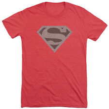 Superman Elephant Shield Mens Tri-Blend Short Sleeve Shirt RED