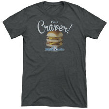 White Castle Craver Mens Tri-Blend Short Sleeve Shirt CHARCOAL