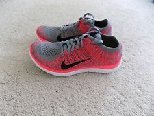 NEW NIKE FREE 4.0 FLYKNIT SHOES WOMENS 5 10 GREY PUNCH PINK WHITE 631050 3.0 run