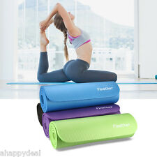 YOGA MAT EXERCISE FITNESS AEROBIC GYM PILATES CAMPING NON SLIP 10/15mm THICK UK