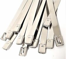 10-100pcs Strong Stainless Steel 8 inch Self Locking Cable Ties Zip Wraps