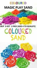 Children Magic Sand Never Dry Moving Play Sand 6 Colours 100g Resealable B3 G1