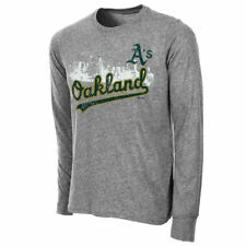 Oakland Athletics Majestic Threads Skyline Long Sleeve T-Shirt - Gray - MLB