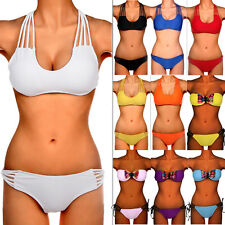 Sexy Womens Triangle Push Up Padded Bra Bikini Set Swimwear Swimsuit Bathers FO