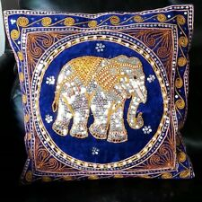 Pillow Cases Thai Elephant Silk Embroider Square Cover Sofa Home New Year Gift