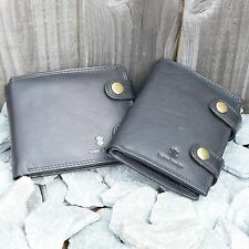 GENUINE Leather Biker Wallet | BLACK | DOUBLE Stitched | FREE Shipping