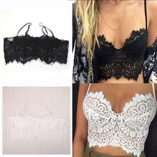 Sexy Strappy Cut Out Lace Bikini Top Tank Top Cami Top Crop Top for Women
