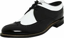 Stacy Adams DAYTON Mens Black White Wing Tip Oxford Dress Shoes