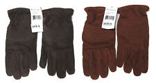 $450 Ralph Lauren Black Label Mens Brown Leather Cashmere Italy Suede Gloves New