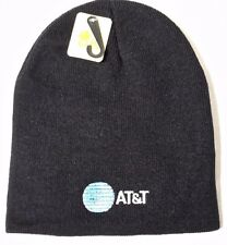 AT&T EMPLOYEE UNIFORM  Knit Beanie Winter Uncuffed Skull Cap LOGO  EMBROIDERED
